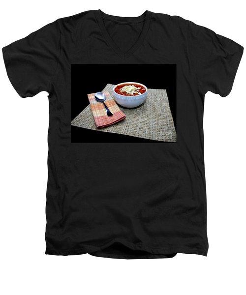 Chili Men's V-Neck T-Shirt by Liz Masoner