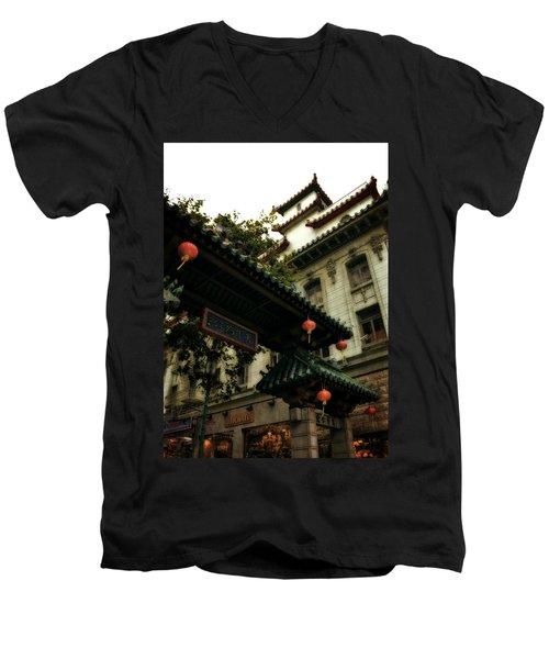 Chinatown Entrance Men's V-Neck T-Shirt