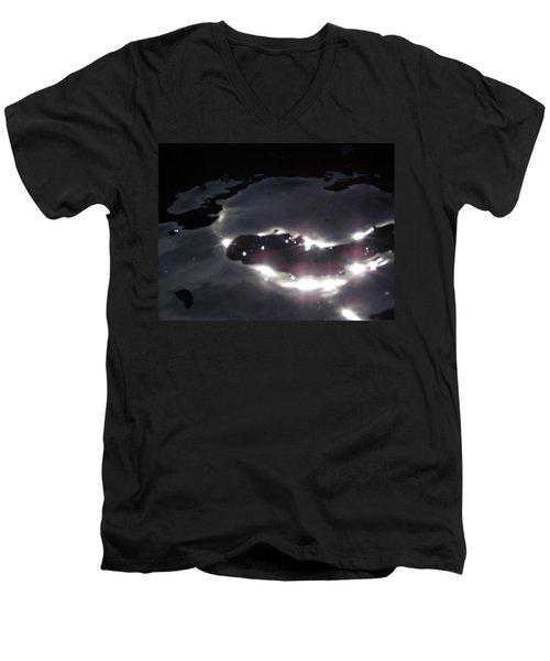 Men's V-Neck T-Shirt featuring the photograph  Water Dragon by Deborah Moen