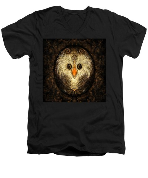 Chocolate Nested Easter Owl Men's V-Neck T-Shirt