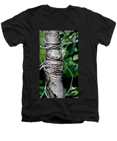 Men's V-Neck T-Shirt featuring the photograph Choke by Lilliana Mendez
