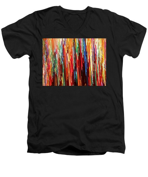 A Rainbow Melting  Men's V-Neck T-Shirt