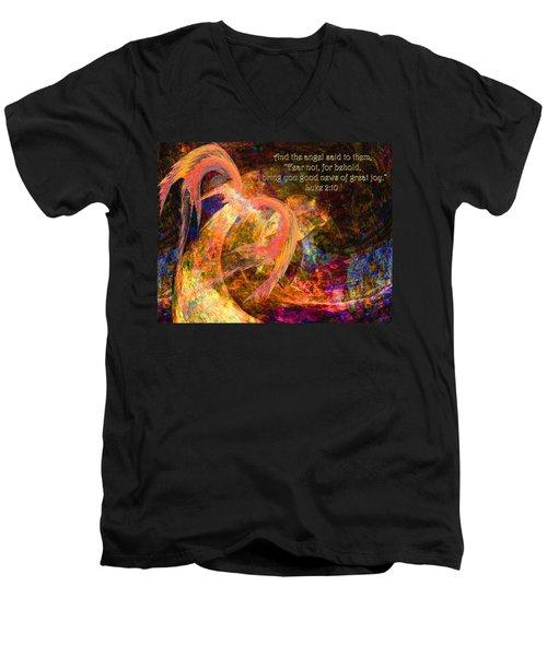 Christmas Angel Men's V-Neck T-Shirt