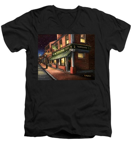 Christmas At Virgilios Men's V-Neck T-Shirt