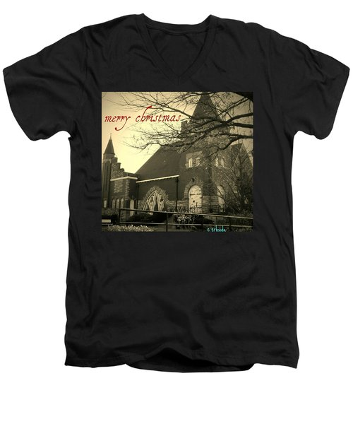 Christmas Chapel Men's V-Neck T-Shirt