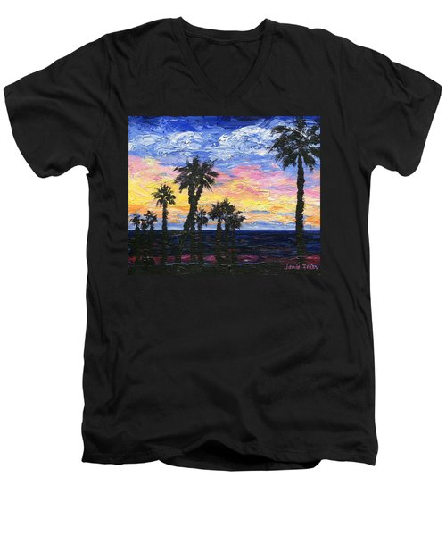 Christmas Eve In Redondo Beach Men's V-Neck T-Shirt by Jamie Frier