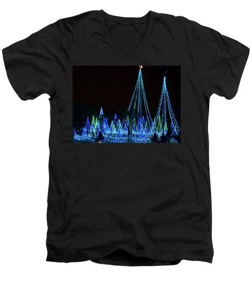Christmas Lights 1 Men's V-Neck T-Shirt