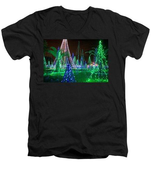Christmas Lights 2 Men's V-Neck T-Shirt
