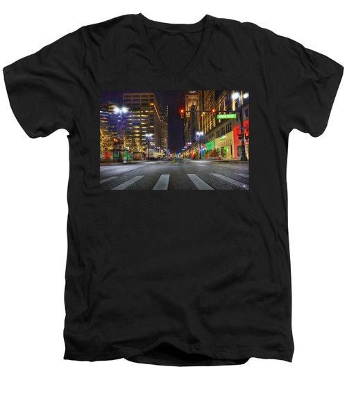 Christmas On Woodward Men's V-Neck T-Shirt