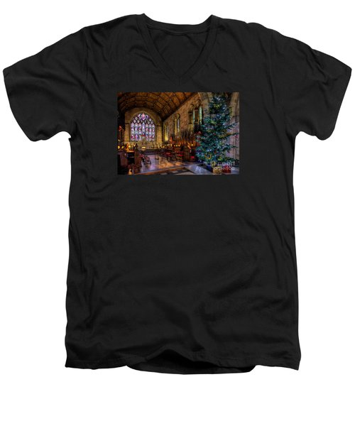 Christmas Time Men's V-Neck T-Shirt by Adrian Evans