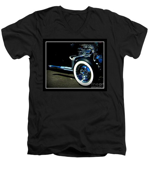 Men's V-Neck T-Shirt featuring the photograph Chrome  by Bobbee Rickard