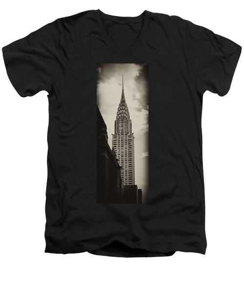 Chrysler Men's V-Neck T-Shirt by Andrew Paranavitana