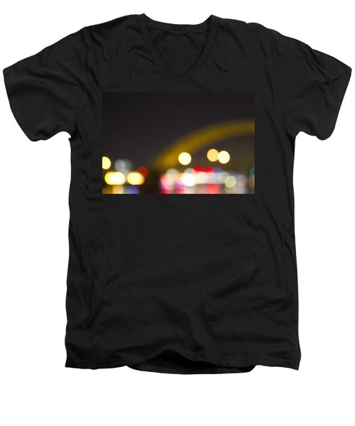 Cincinnati Night Lights Men's V-Neck T-Shirt