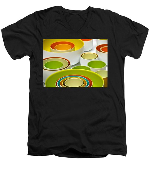 Men's V-Neck T-Shirt featuring the photograph Circles Squared by Ira Shander