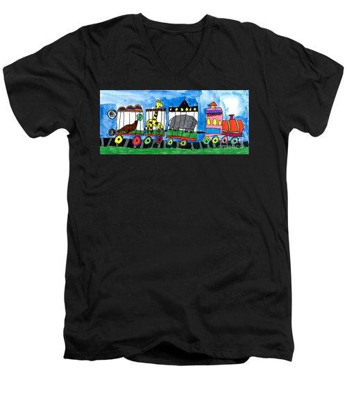 Circus Train Men's V-Neck T-Shirt