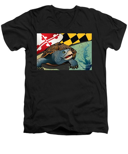 Citizen Terrapin Maryland's Turtle Men's V-Neck T-Shirt