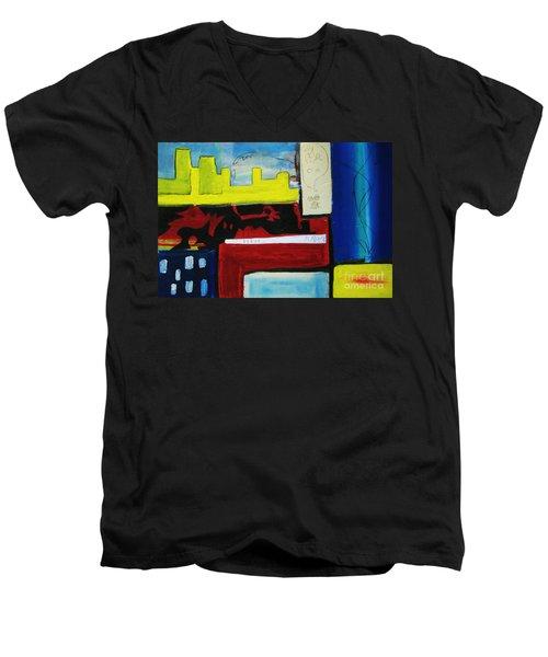 City Life Men's V-Neck T-Shirt