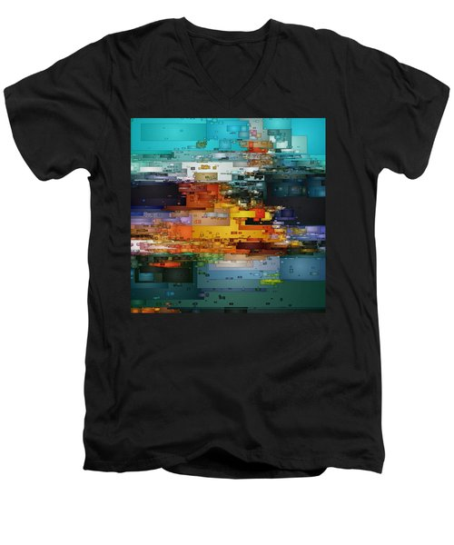 City Of Color 1 Men's V-Neck T-Shirt by David Hansen