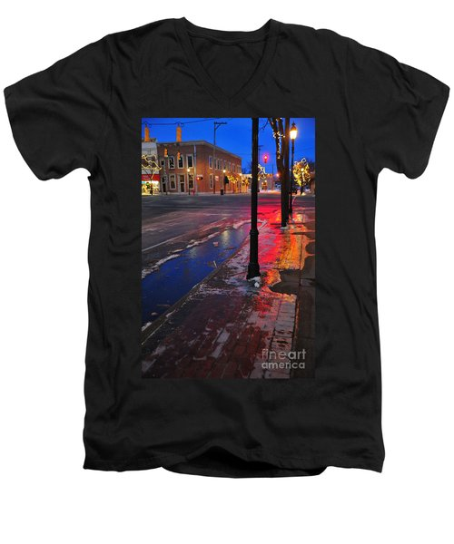 Clare Michigan At Christmas 10 Men's V-Neck T-Shirt