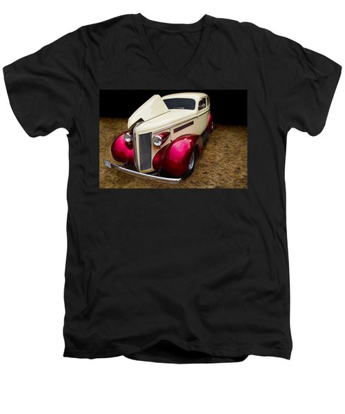 Men's V-Neck T-Shirt featuring the photograph Classic Car - 1937 Buick Century by Peggy Collins