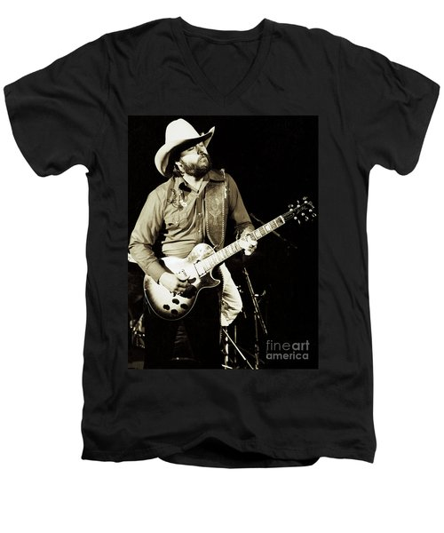 Classic Toy Caldwell Of The Marshall Tucker Band At The Cow Palace-new Years Concert  Men's V-Neck T-Shirt