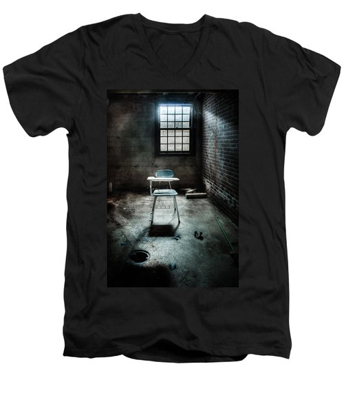 Men's V-Neck T-Shirt featuring the photograph Classroom - School - Class For One by Gary Heller