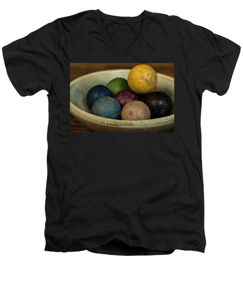 Clay Marbles In Bowl Men's V-Neck T-Shirt