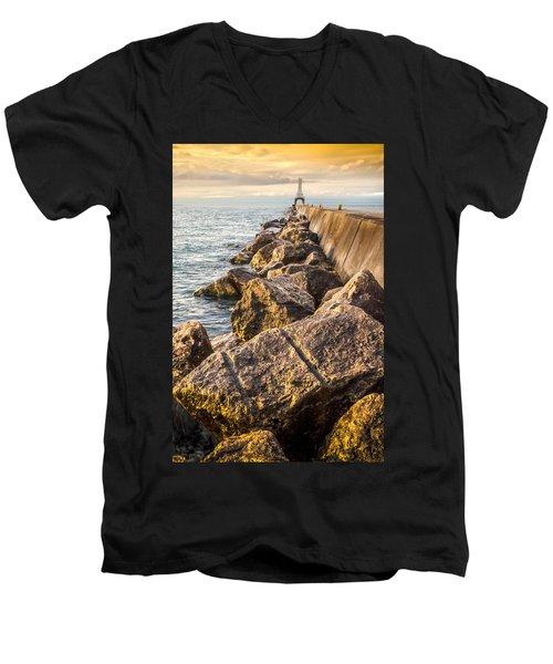Clear Journey Men's V-Neck T-Shirt
