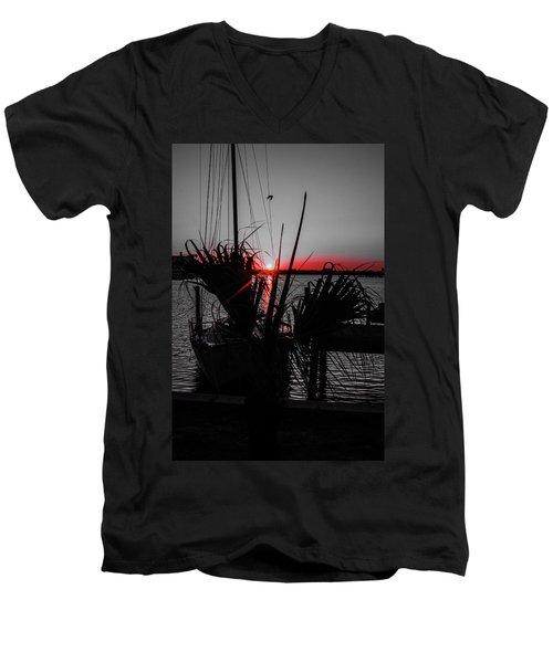 Clearwater Sunrise Men's V-Neck T-Shirt