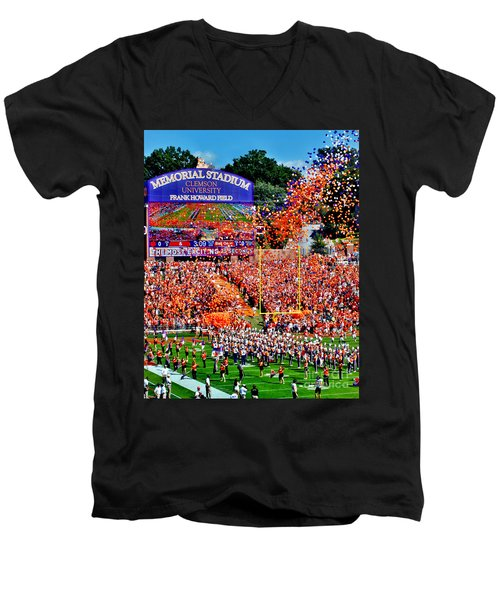 Clemson Tigers Memorial Stadium Men's V-Neck T-Shirt