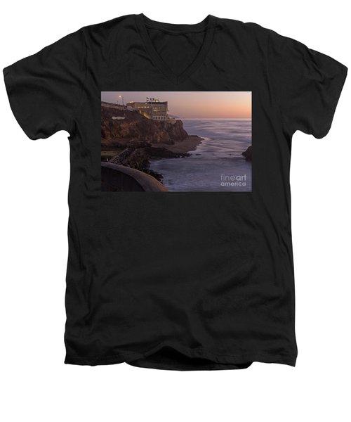 Cliff House Sunset Men's V-Neck T-Shirt
