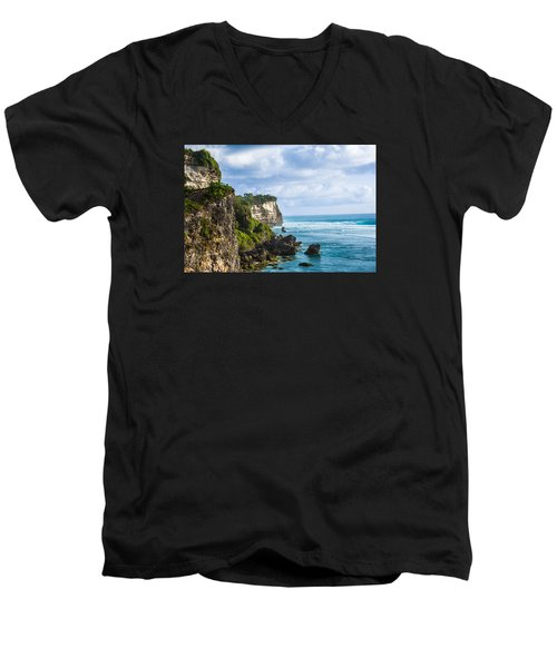 Cliffs On The Indonesian Coastline Men's V-Neck T-Shirt