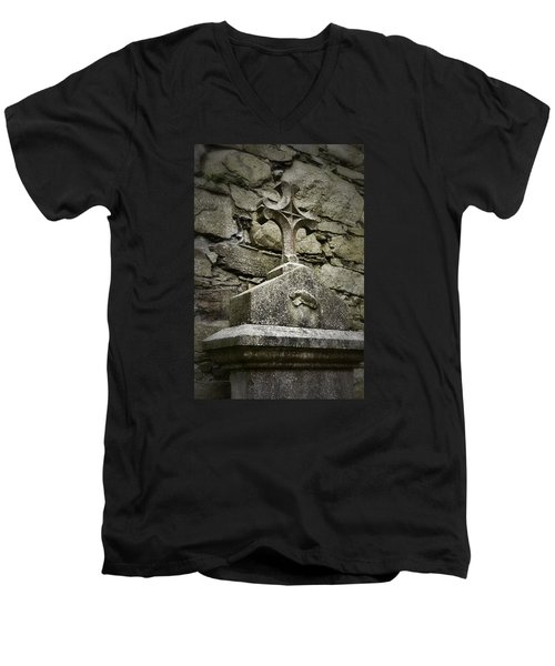 Cloister Cross At Jerpoint Abbey Men's V-Neck T-Shirt