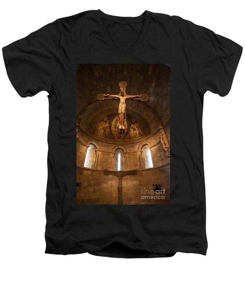 Cloisters Crucifixion Men's V-Neck T-Shirt
