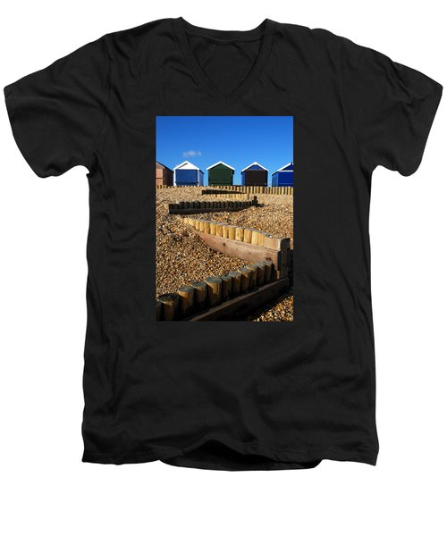 Men's V-Neck T-Shirt featuring the photograph Closed For The Winter by Wendy Wilton