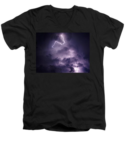 Cloud Lightning Men's V-Neck T-Shirt