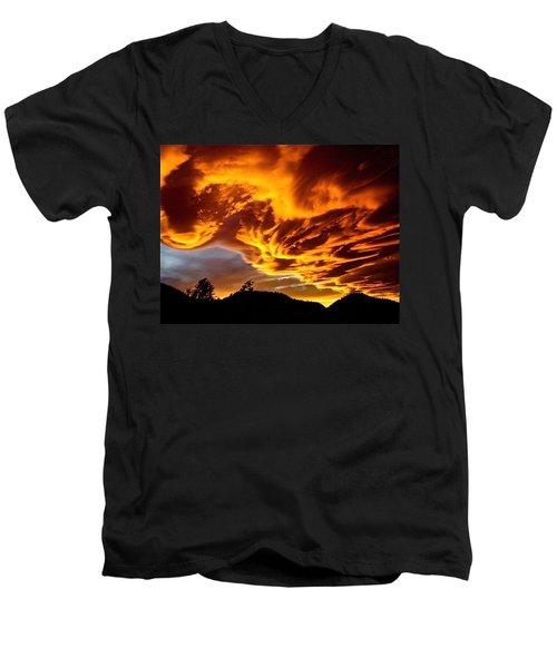 Clouds 2 Men's V-Neck T-Shirt by Pamela Cooper