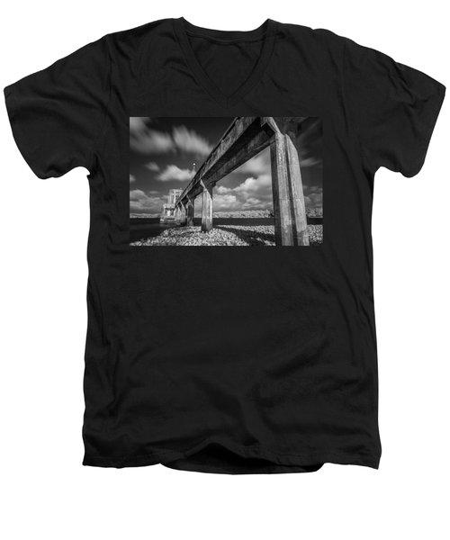 Clouds Above The Bridge Men's V-Neck T-Shirt