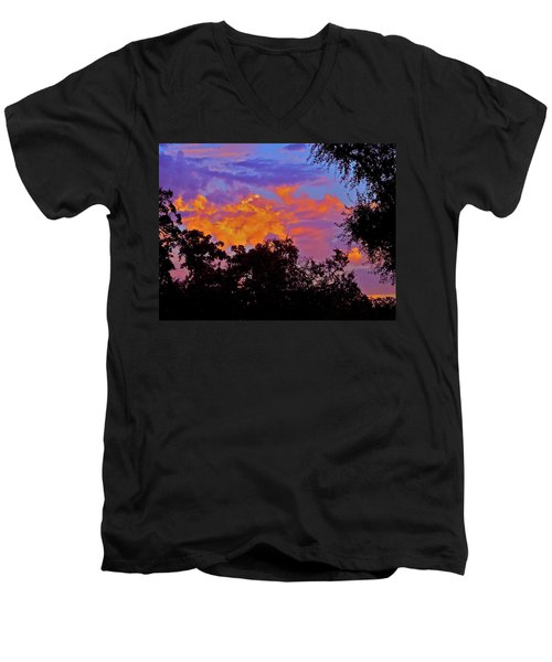 Men's V-Neck T-Shirt featuring the photograph Clouds by Pamela Cooper