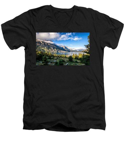Clouds Roll In Men's V-Neck T-Shirt by Aaron Aldrich