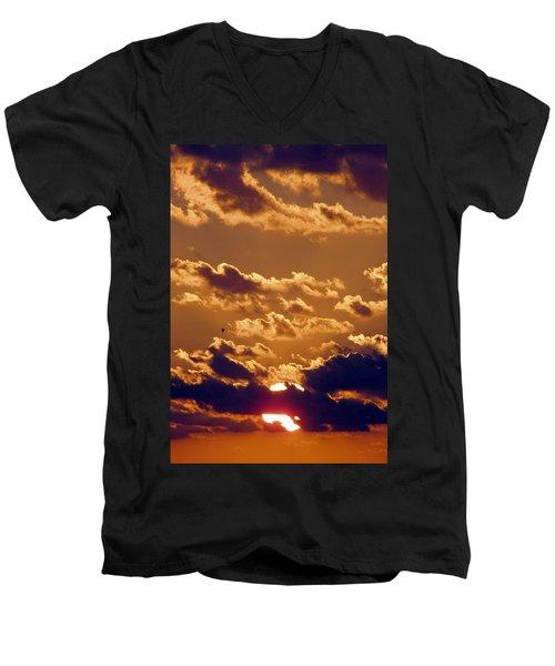 Key West Cloudy Sunset Men's V-Neck T-Shirt