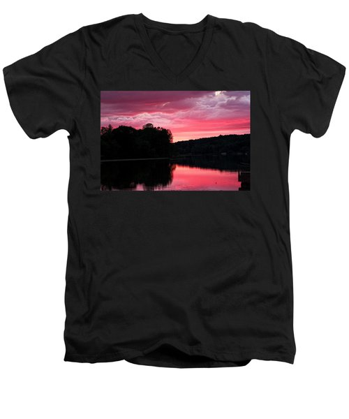 Cloudy Sunset Men's V-Neck T-Shirt