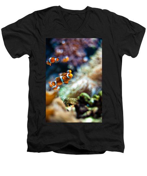 Clownfish  Men's V-Neck T-Shirt by Ulrich Schade