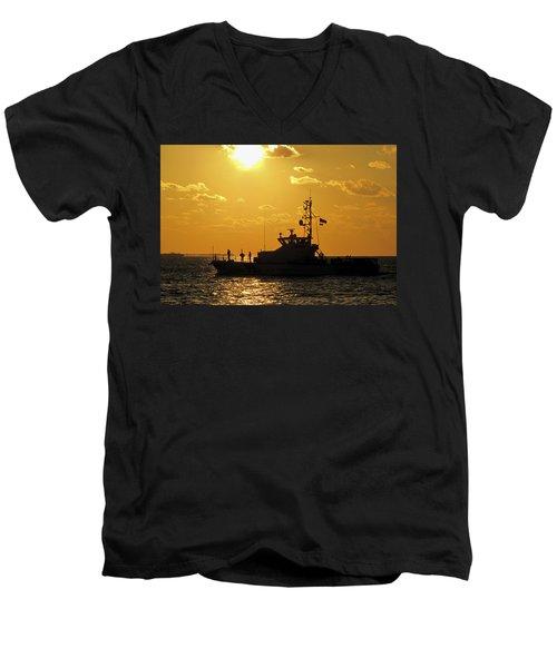 Coast Guard In Paradise - Key West Men's V-Neck T-Shirt