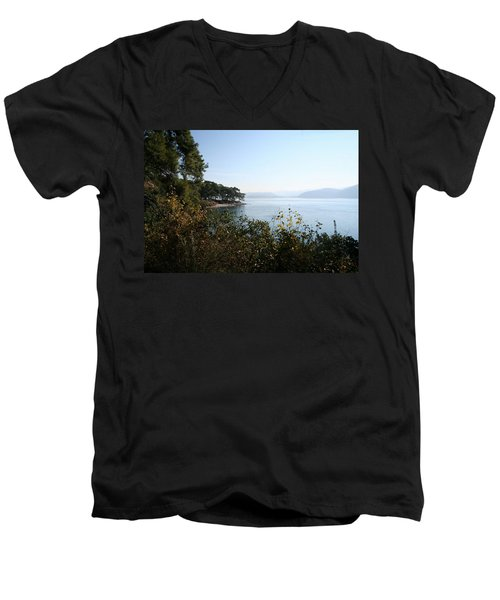 Men's V-Neck T-Shirt featuring the photograph Coast by Tracey Harrington-Simpson
