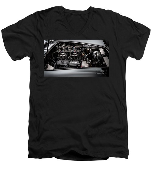 Men's V-Neck T-Shirt featuring the photograph Cobra Engine by Matt Malloy