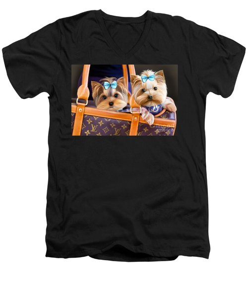 Coco And Lola Men's V-Neck T-Shirt