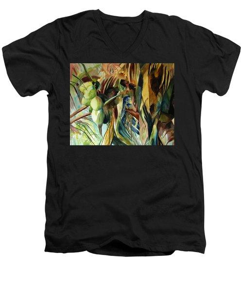 Coconuts And Palm Fronds 5-16-11 Julianne Felton Men's V-Neck T-Shirt