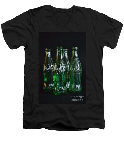 Coke Bottles From The 1950s Men's V-Neck T-Shirt