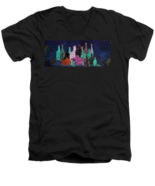 Men's V-Neck T-Shirt featuring the digital art Collecting by I'ina Van Lawick
